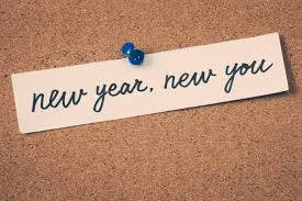 Sicky note on bulletin board stating New Year, New You